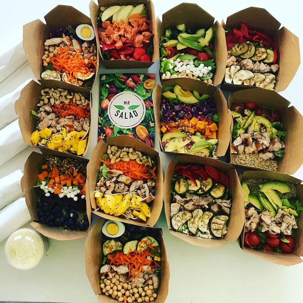 Zakelijke lunch mr salad